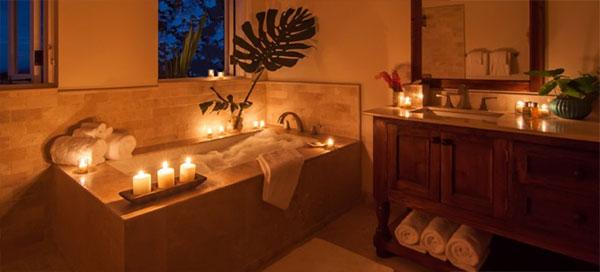 Κεριά στο μπάνιο